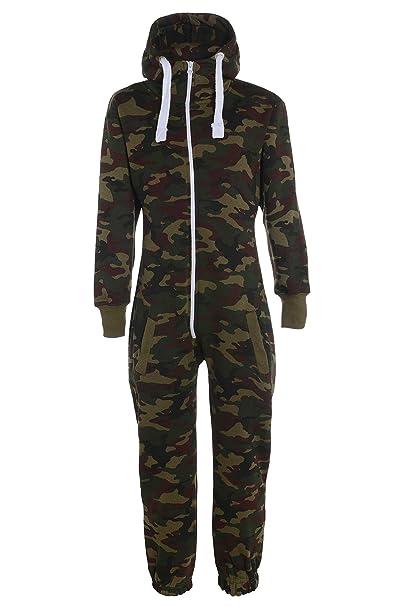 Fashion Oasis - Pijama de una pieza - para niño verde Ejercito Verde 3-4