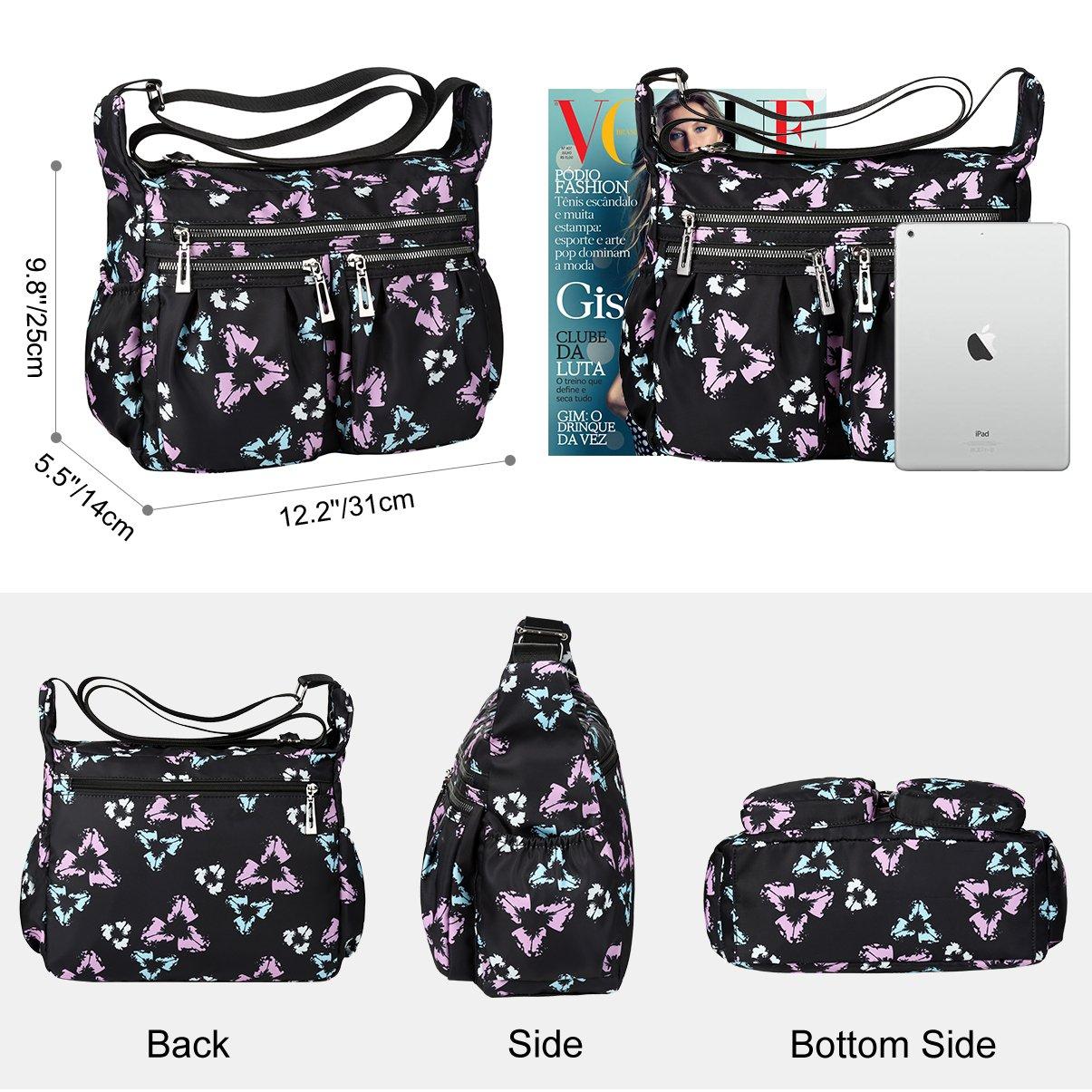 196990fff2be Amazon.com  VBG VBIGER Crossbody Bags for Women Nylon Travel Purse  Waterproof Shoulder Messenger Bag  Clothing