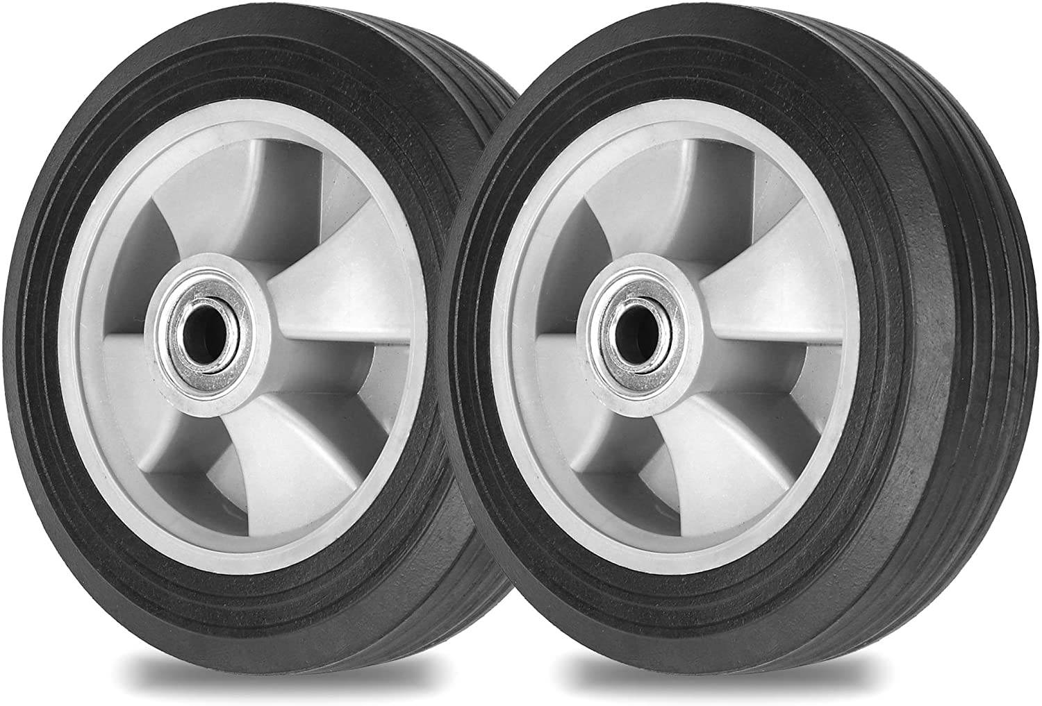 AR-PRO (2- Pack) Run-Flat Solid Rubber Replacement Tire 8