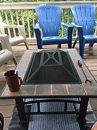 Amazon Com Axxonn Outdoor Rectangular Ceramic Tile Top