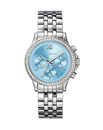 Reloj Viceroy Mujer 432270-33 Acero Multifunción Esfera Azul: Amazon.es: Relojes