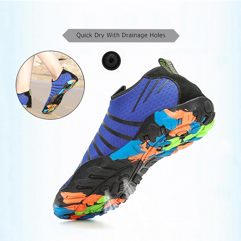 0cd7a75d67cf7 katliu Zapatos de Agua Mujer Hombre Escarpines para Surf Piscina Playa Yoga  Deportes Acuáticos  Amazon.es  Zapatos y complementos