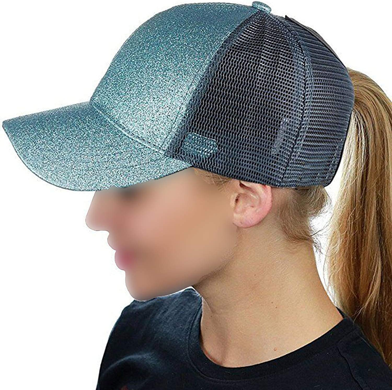 Mageed Anna 2019 Fashion Ponytail Womens Baseball Cap Mesh Summer Cap Casquette Femme Adjustable Dad Hat Tennis Cap