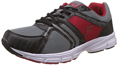 e9a63148290 Fila Men s Extremer Black and Red Running Shoes - 11 UK India (45 EU ...