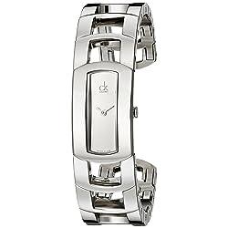 Calvin Klein Women's Dress Stainless Steel Cuff Watch