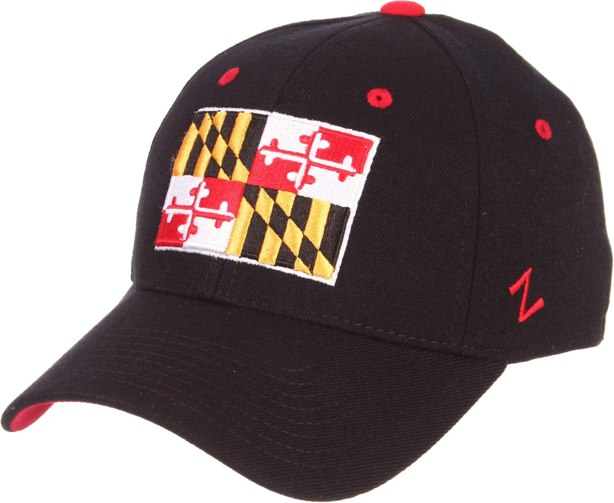Zephyr Men's Maryland Terrapins ' Maryland Pride' Black Flex Hat (Medium/Large)