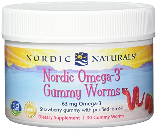 Nordic Naturals Omega-3 Gummy Worms, 30-Count: Amazon.es: Salud y cuidado personal