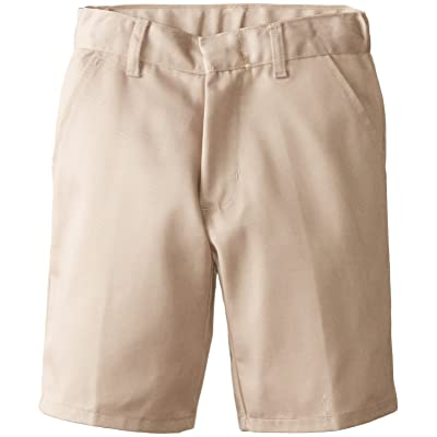 (6114) Genuine School Uniforms Boys Pleated Front Short (Sizes 4-16) in Khaki Size: 7