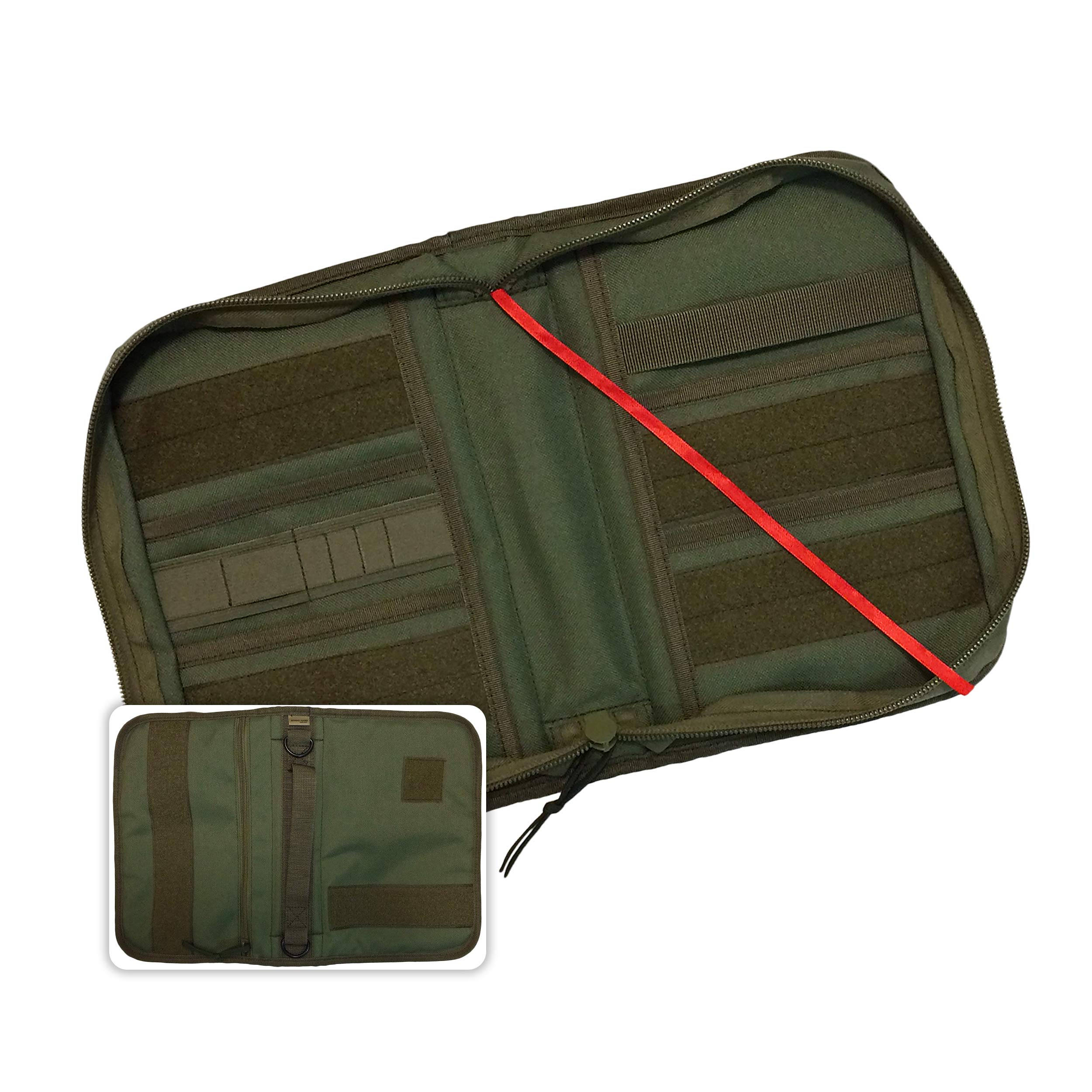 Military Style Medium Bible Cover & Organizer for Men - Personalize Your Camo Bible Case with Morale Patches That Reflect Your Beliefs. (OD Green) by Righteous Grunt