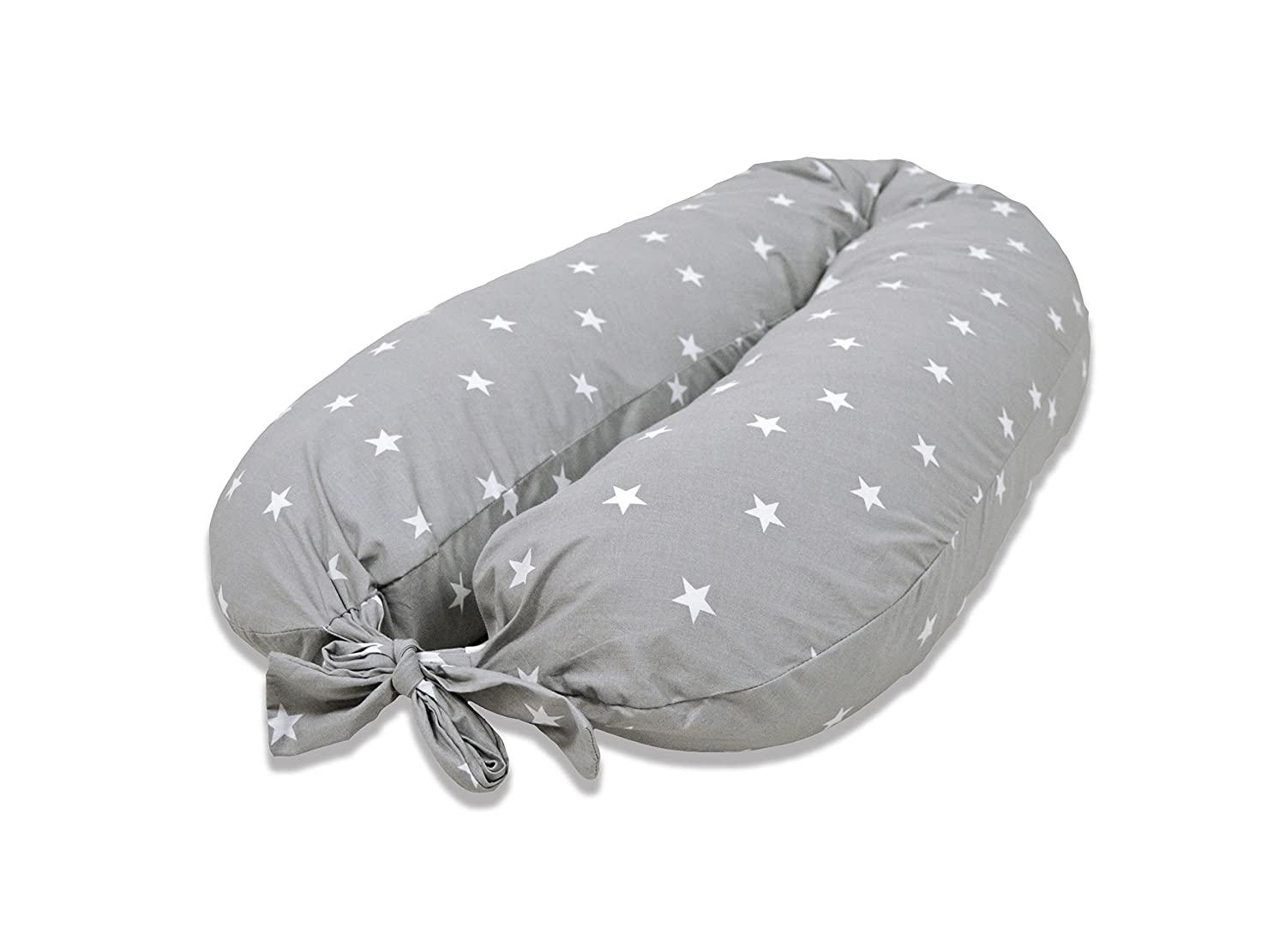 Cuddles Collection White Stars On Grey Maternity Pillow Cuddles Collection Ltd CCU11332
