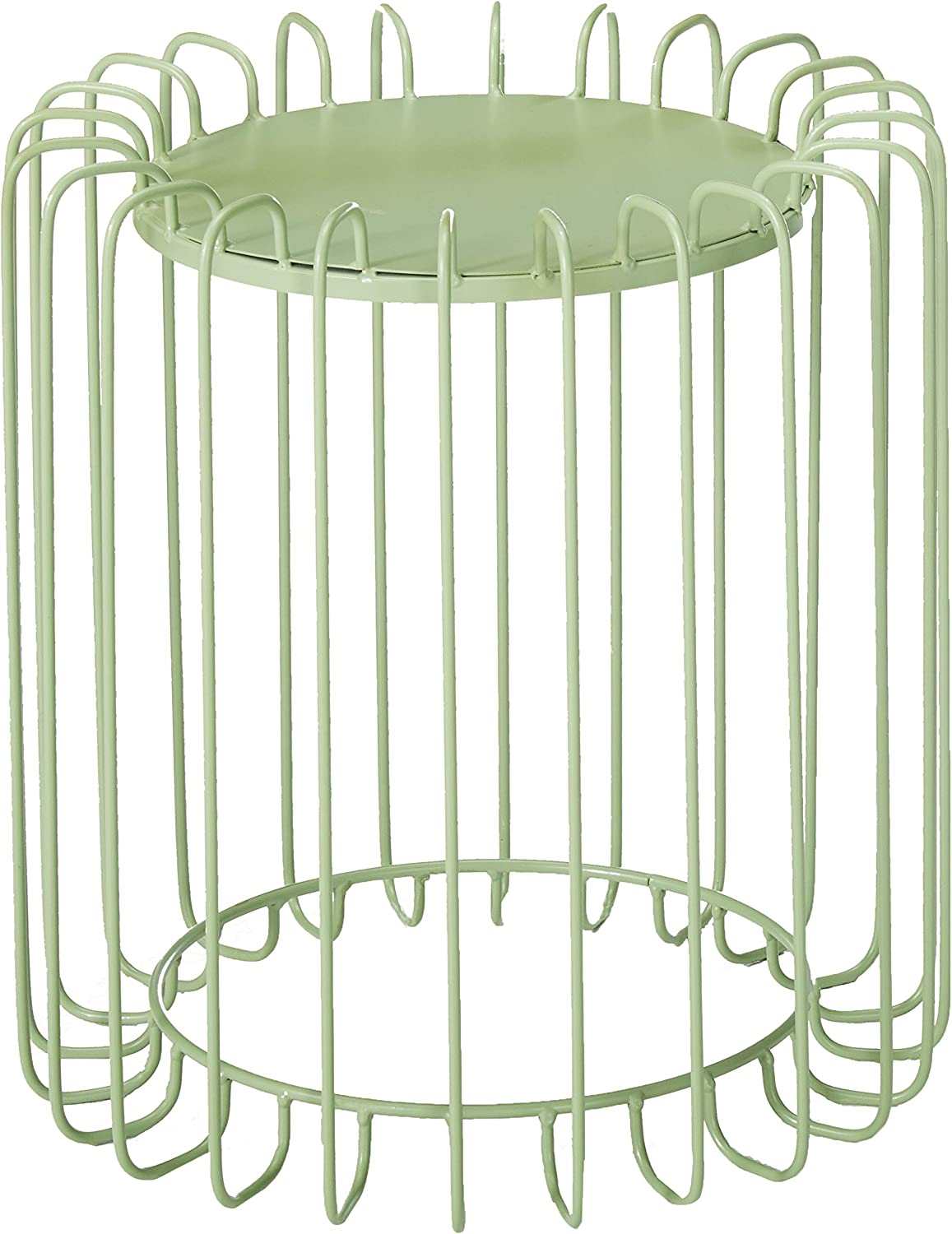 Christopher Knight Home Pony Outdoor 16 Inch Green Finish Metal Side Table