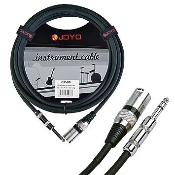 Joyo cm-08 - Cable XLR a jack (6.3 mm, mono, balanceado