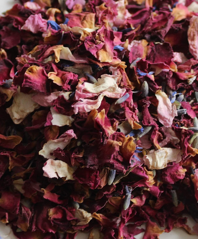 Biodegradable Natural Petal Wedding Confetti Pack of 10 Cornflower Vintage Mix in Glassine Bag including Throw Me Sticker