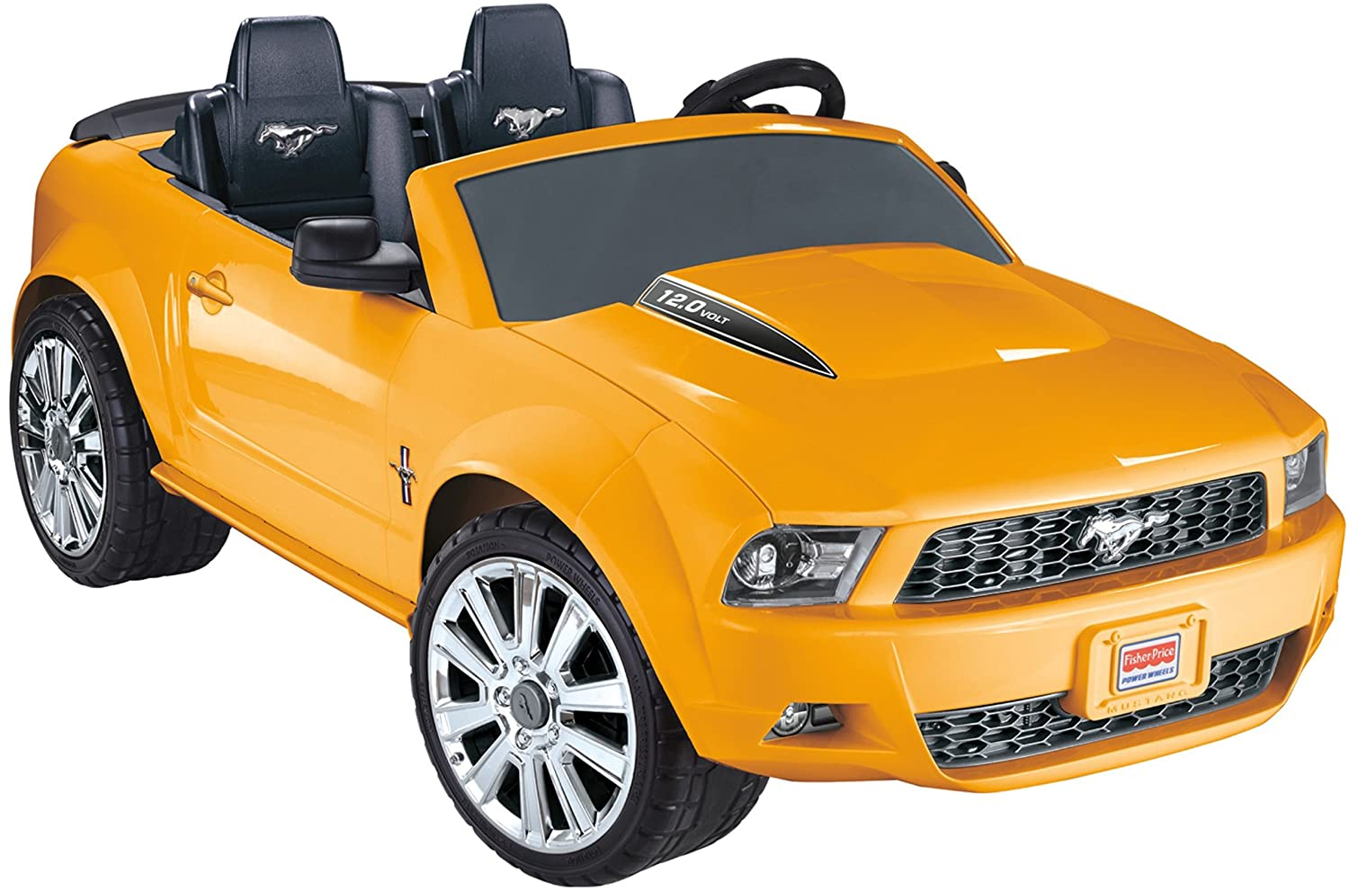 Power Wheels Ford Mustang, Yellow - The best power wheels for kids