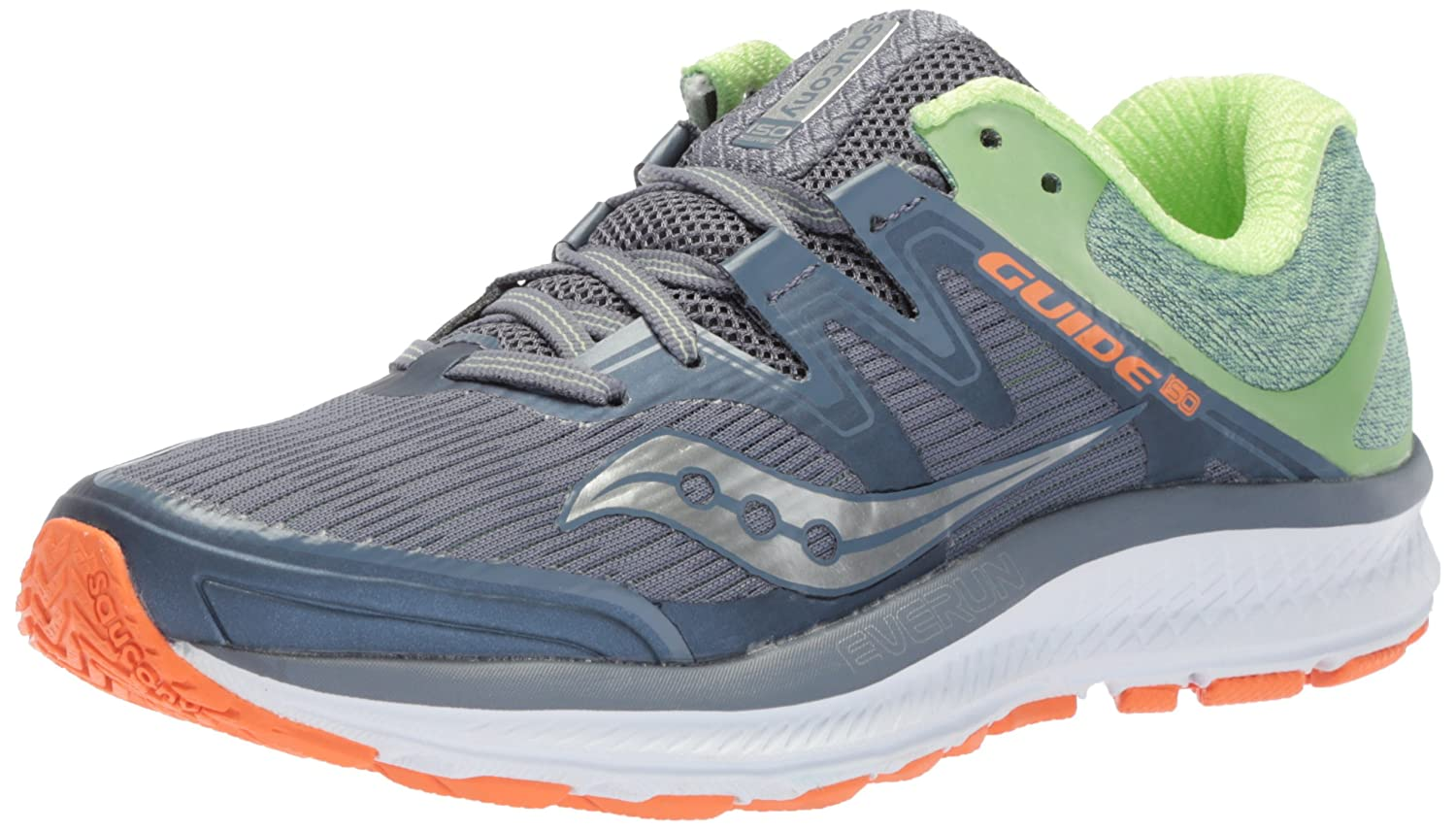 Saucony Women's Guide Iso Running Shoe B072QDTCXR 10.5 B(M) US|Grey/Mint