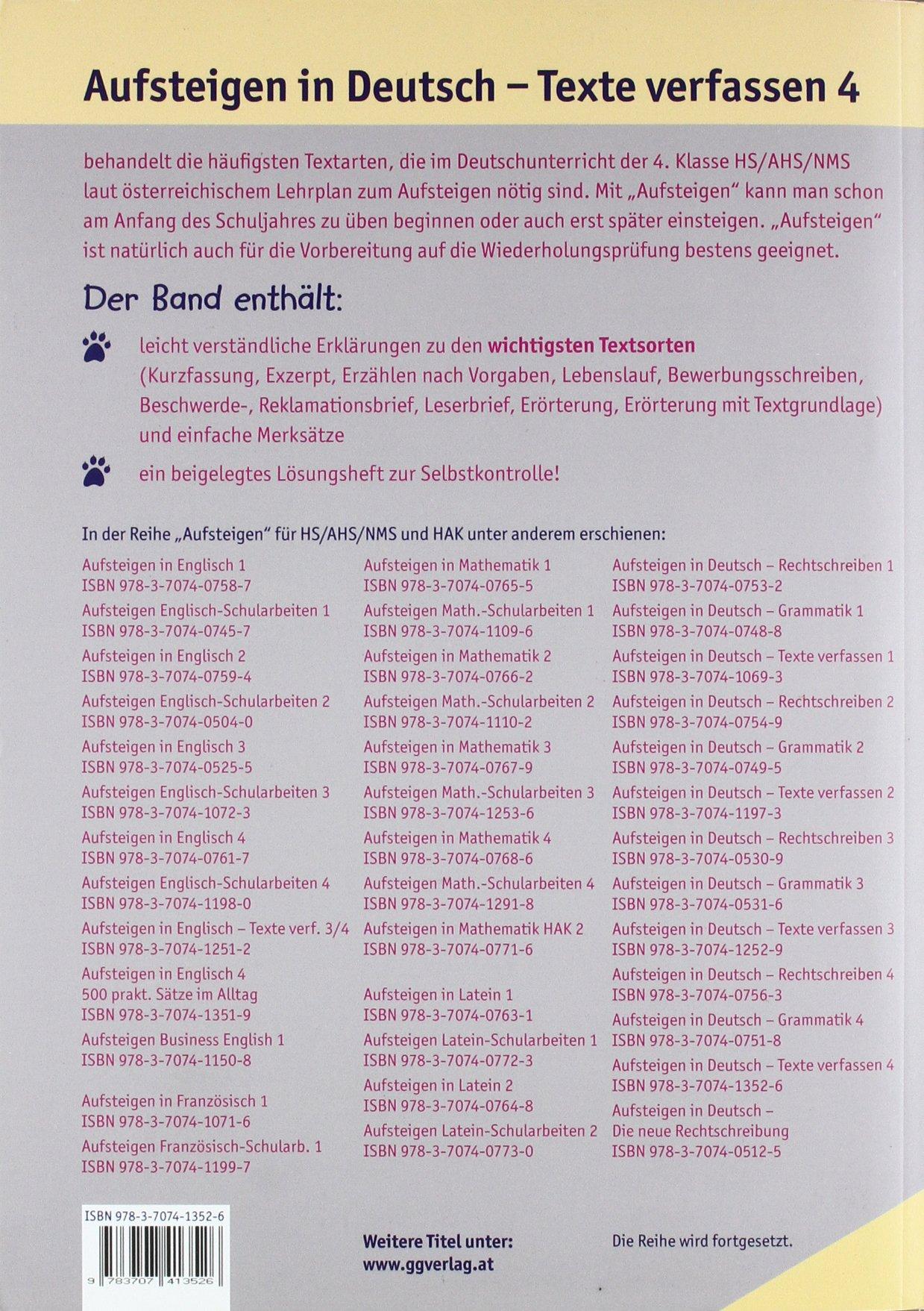 Aufsteigen In Deutsch Texte Verfassen 4 So Schaffst Du Die 4