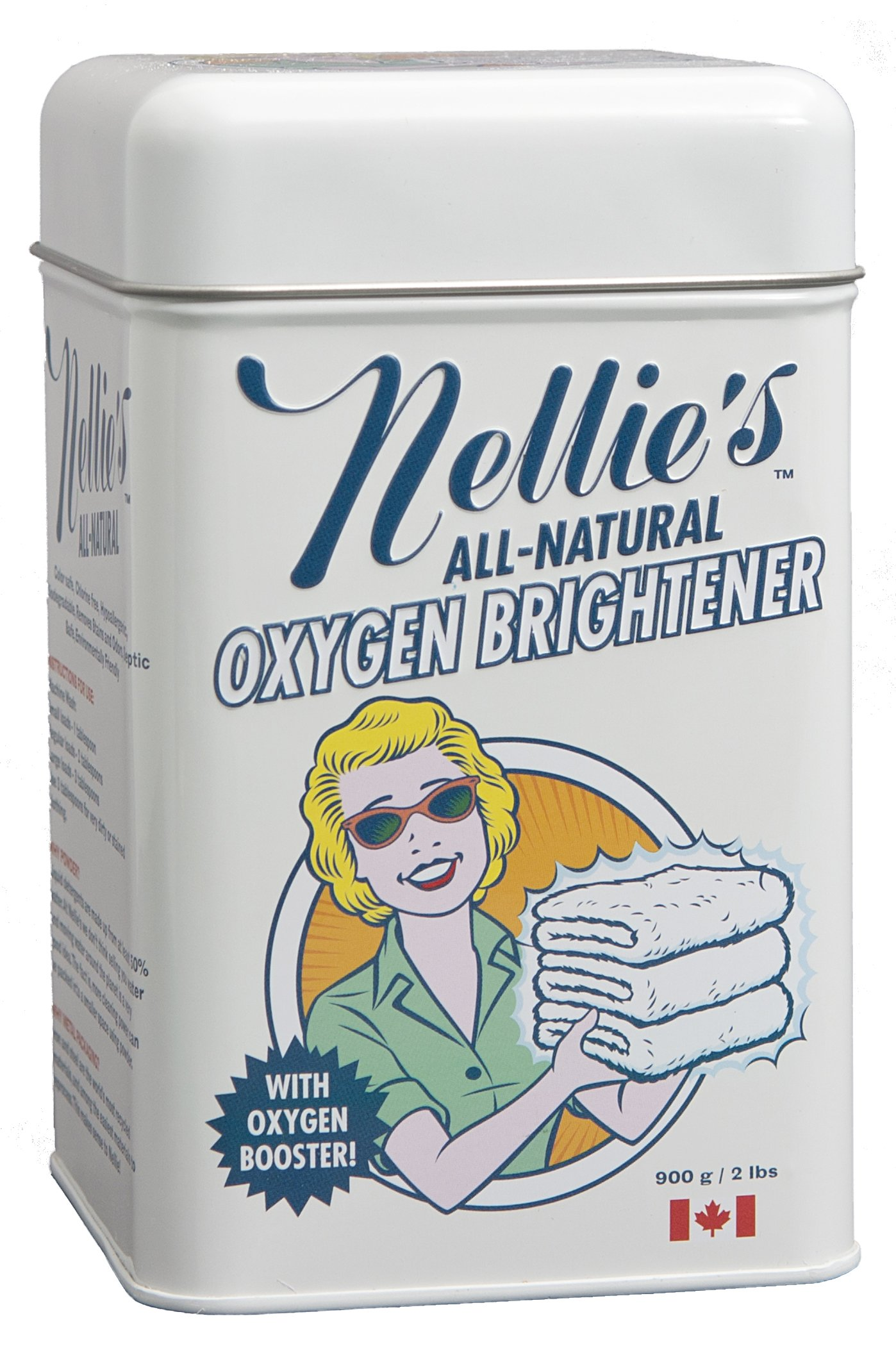 Nellie's Laundry Soda (3.3 lbs 100 Loads) Oxygen Brightener - Cleaning Combo Package