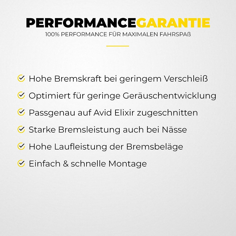Avid Elixir Plaquettes de Frein 1 3 5 7 9 R Carbon X7 CR 10 XO Via GT /& SRAM XX XO pour Freins /à Disque I Haute Performance de freinage I Durable /& Fit Plaquettes de Frein