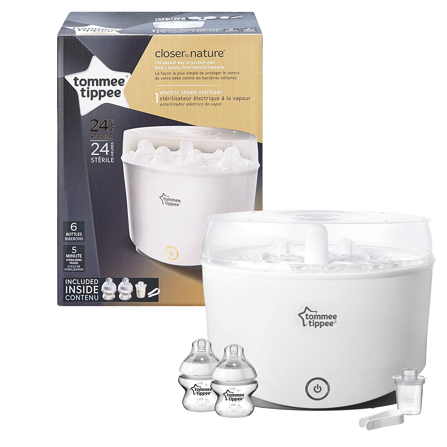 Tommee Tippee Closer to Nature - Esterilizador de vapor eléctrico: Amazon.es: Bebé