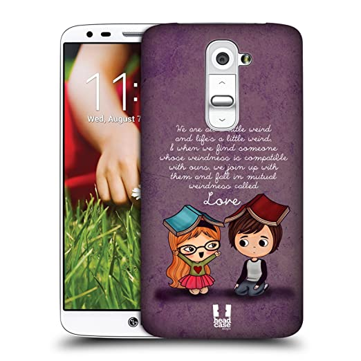 8 opinioni per Head Case Designs Weirdness Cute Emo Love Cover Retro Rigida per LG G2 / D800 /