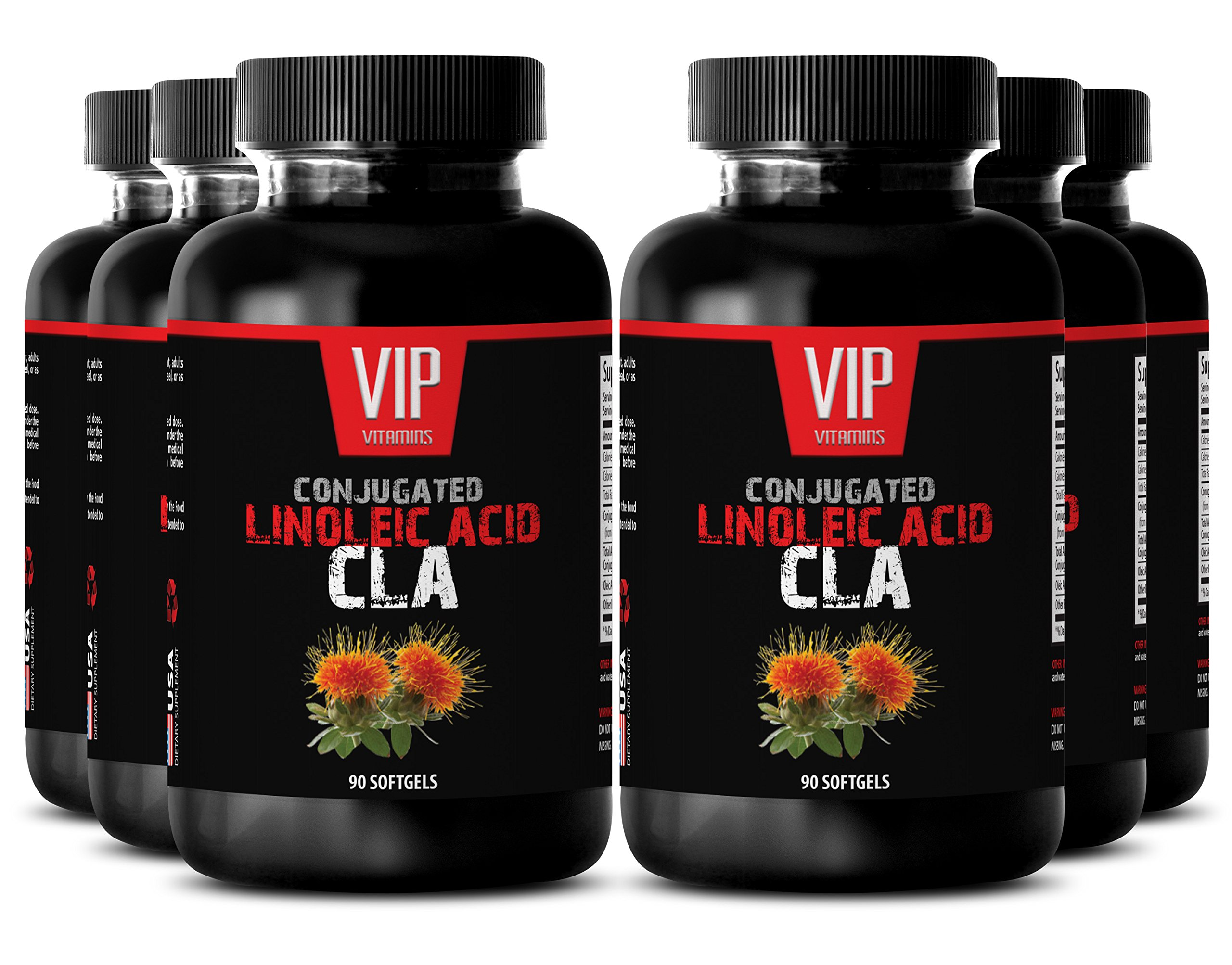 Conjugated linoleic acid - Conjugated Linoleic Acid CLA - Conjugated linoleic acid weight loss - 6 bottles 270 softgels by VIP VITAMINS (Image #1)
