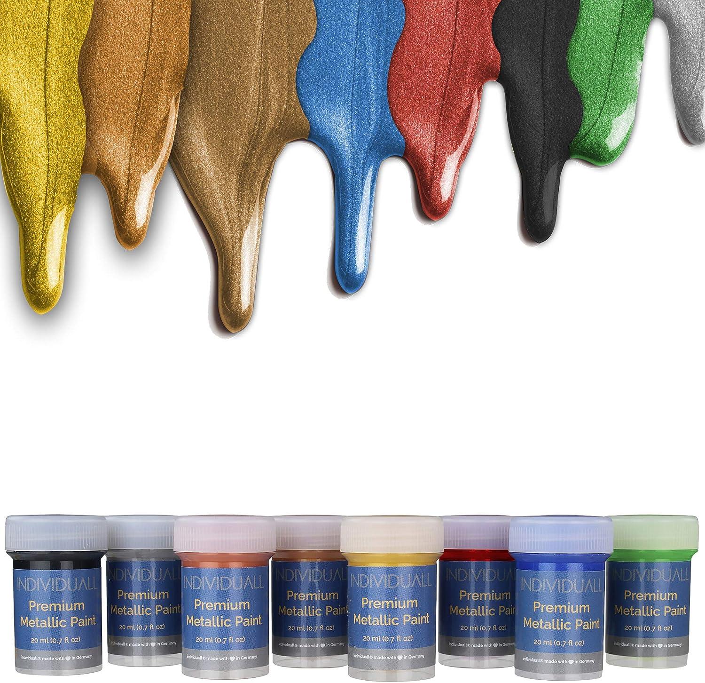 Juego de pintura acrílica artesanal con efecto metálico