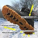WellUp Men's Snow Boots-Fur-Lined Shoes Non-Slip