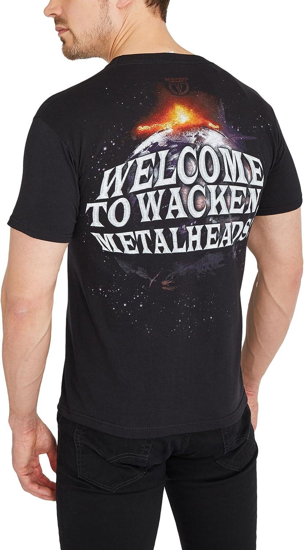 t-shirt avec imprim/é au dos t-shirt avec imprim/é sur le devant W:O:A t-shirt noir t-shirt imprim/é t-shirt de fan Wacken Open Air T-shirt basique uni Wacken Worldwide t-shirt en coton