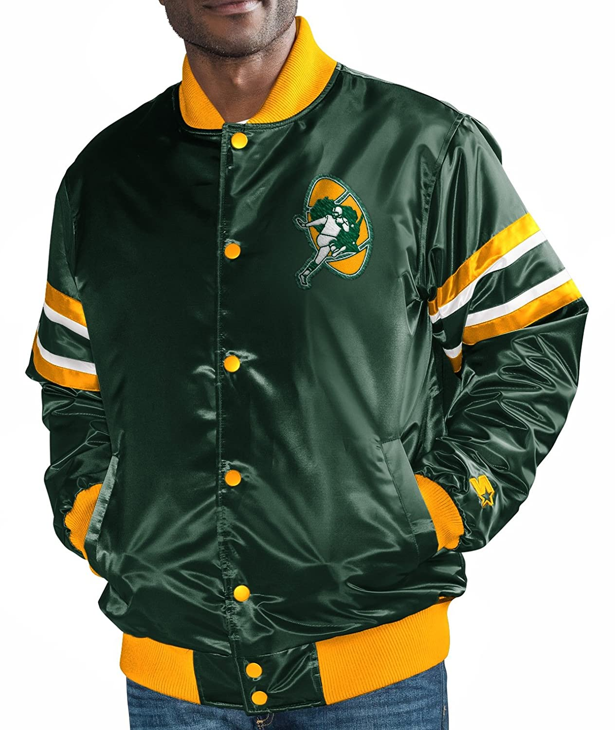 Amazon.com : STARTER Green Bay Packers NFL The Captain ...