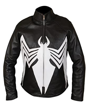 Flesh & Hide F&H Boys Genuine Leather Amazing Spider-Man Venom Spiderman Jacket ...