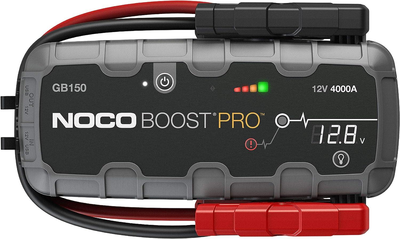 NOCO Boost Pro GB150 4000 Amperios 12V UltraSafe Litio Arrancador de Batería de Coche para hasta 10L de Gasolina y Motores Diesel, Negro