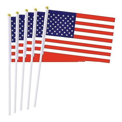 Amazon Com 50 Pack Usa Stick Flag 8 5 X 5 5 Small Mini Us