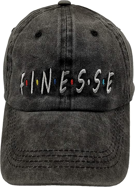 Verbiage Fashion Vintage Distressed Hat Baseball Cap Washed