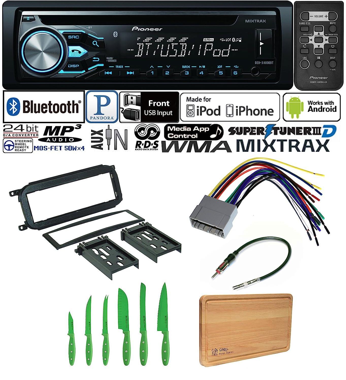 Pioneer Car Stereo Radio Bluetooth Cd Player Dash Install Kit Jeep Liberty 02 03 04 05 Wiring Mount Harness Antenna Chrysler Dodge Electronics