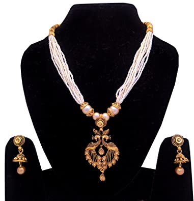 c38c1d2a10c Shoppingover New Collection women Bridal artificial jewellery sets online  shopping Necklace with Earrings  Amazon.co.uk  Jewellery