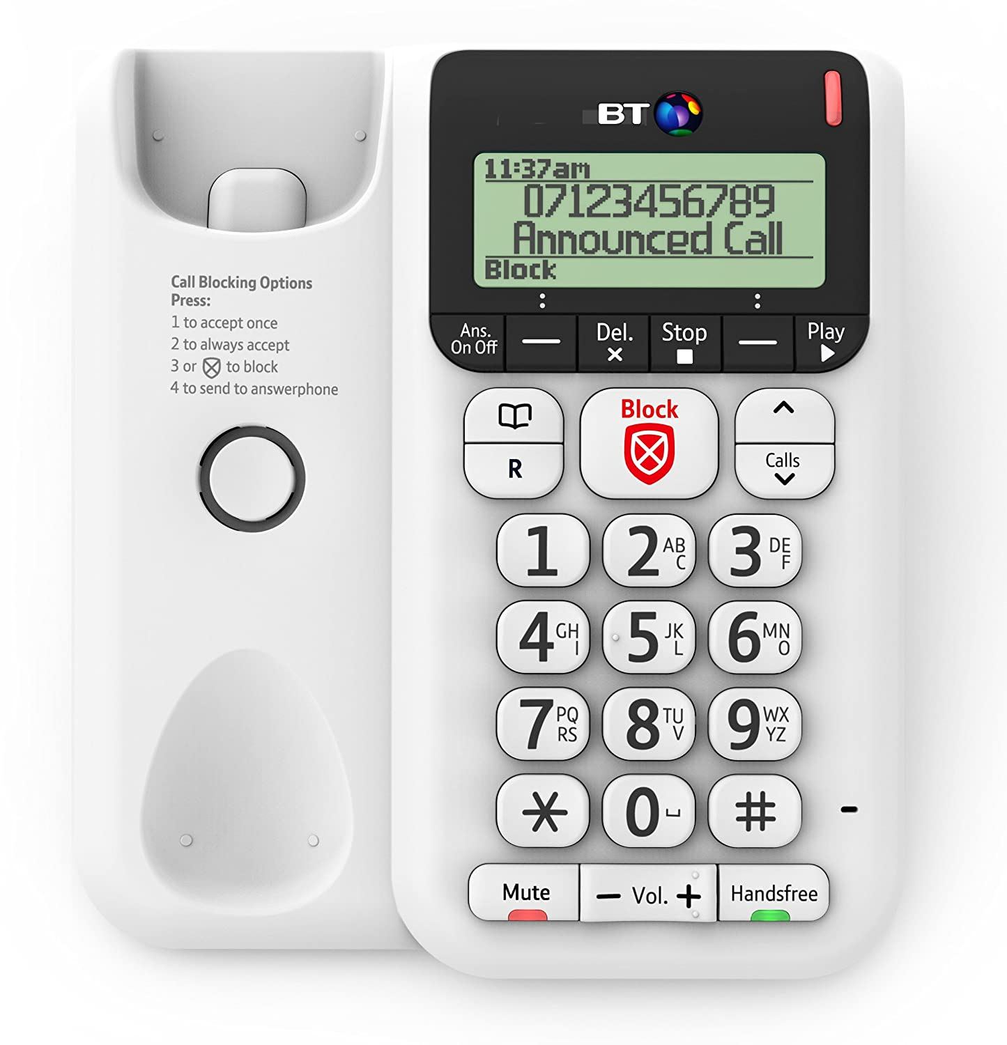 Bt Decor 2600 Advanced Call Blocker Corded Telephone: Amazon:  Electronics