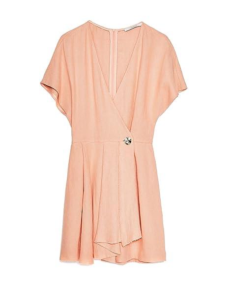 a7083049825 Uterque Women s Linen Jumpsuit 0121 255  Amazon.co.uk  Clothing