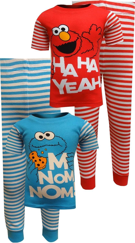 Sesame Street Boys Elmo 4-Piece Cotton Pajama Set 4T 21SS248ESLZA-P6