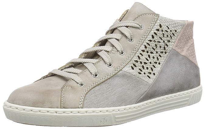 Womens L9404 Hi-Top Sneakers, Beige, 6 UK Rieker