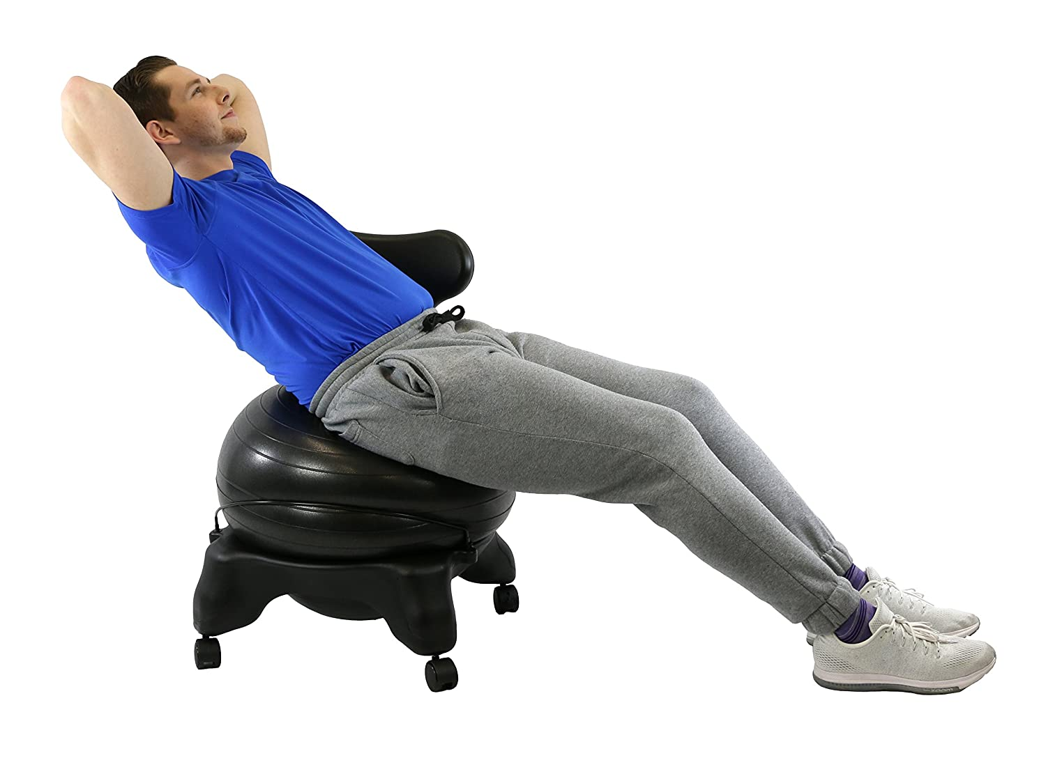CanDo Plastic Mobile Ball Chair Adult Size 20
