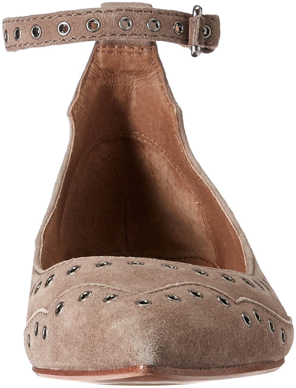 FRYE Women's Sienna Grommet Ankle Ballet Flat B01H5MCA3U 5.5 B(M) US|Ash