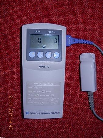 nellcor npb40 spo2 portable pulse oximeter with finger sensor rh amazon co uk Nellcor Pulse Oximeter Finger Probes Oxygen Sensor