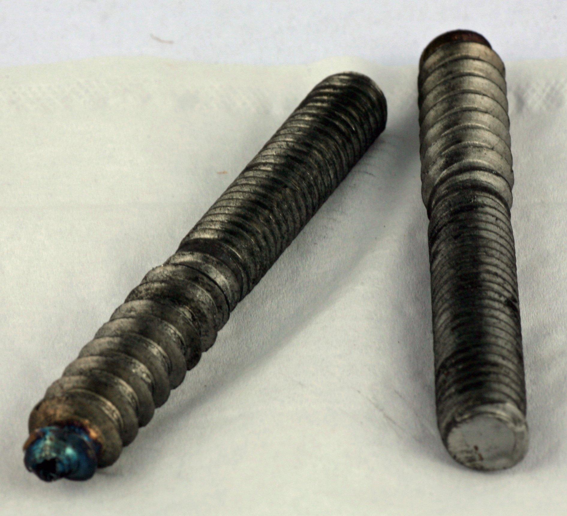 3/8 x 1-1/ 2 Hanger Bolts Full Thread Steel Plain 100 Pack
