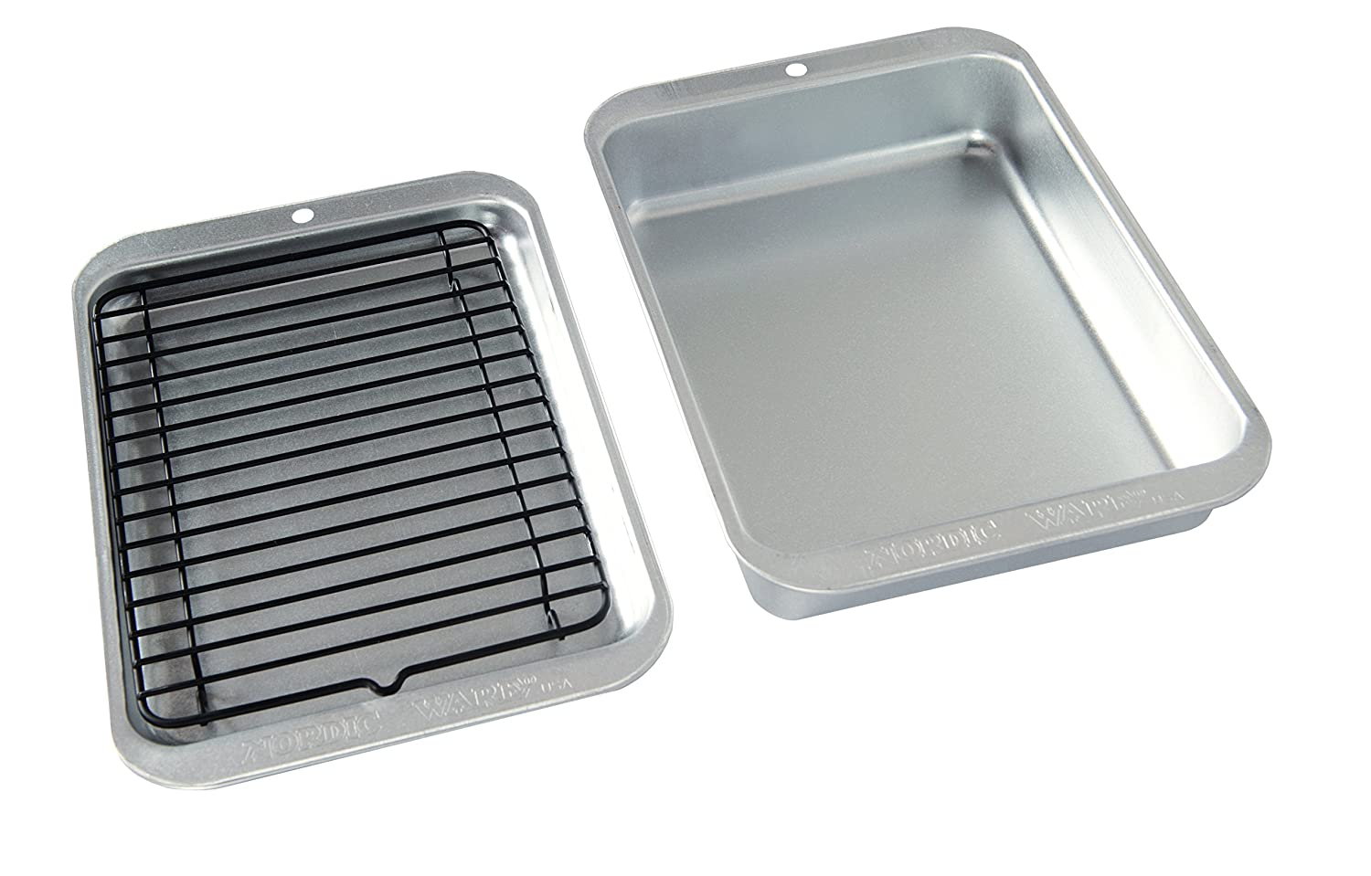 Nordic Ware 43290 3 Piece Naturals Compact Grill and Bake Set Silver