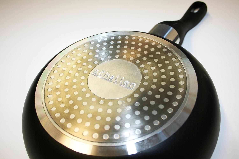 SCHALLEN - Juego de sartenes de Cocina (3 Piezas, Acero Inoxidable y Aluminio Respetuoso con el Medio Ambiente, con Revestimiento de cerámica Blanca ...
