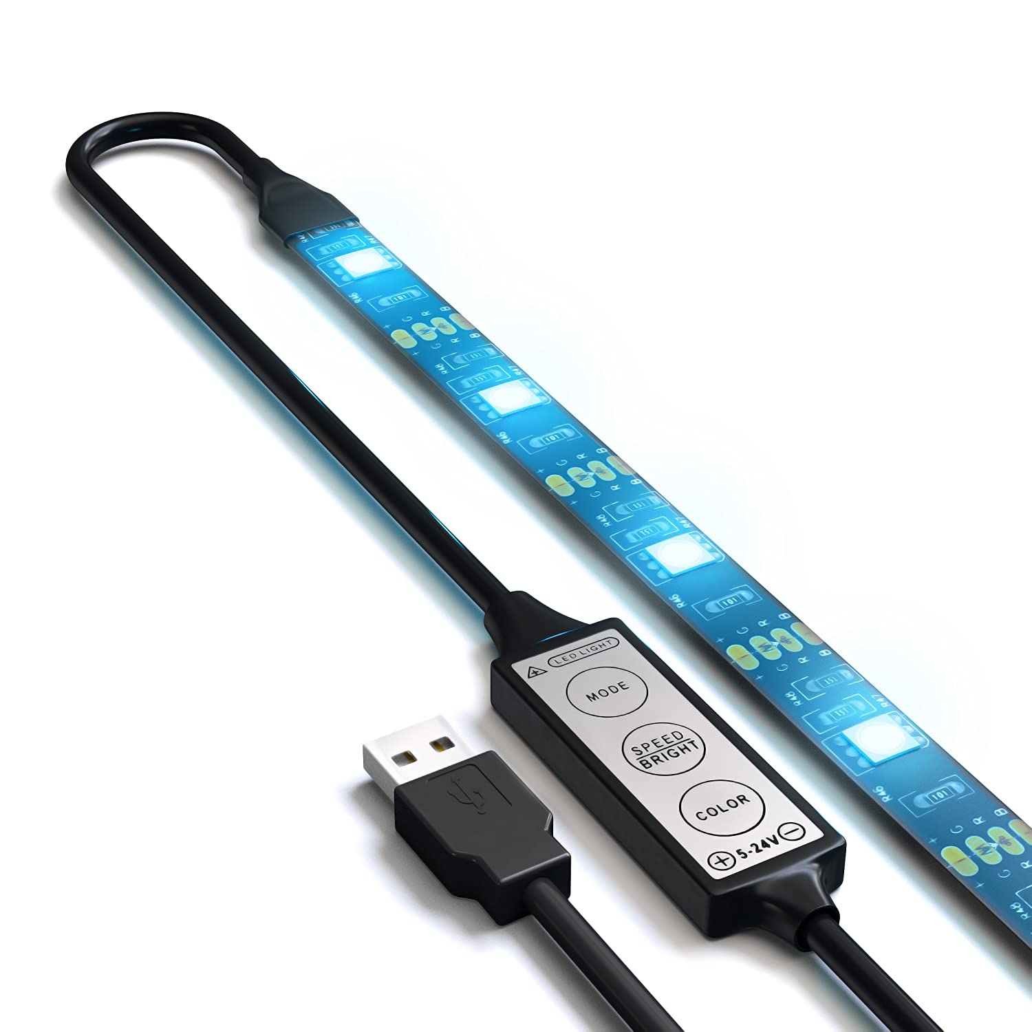 Amazon satechi flexible usb accent led rgb light strip amazon satechi flexible usb accent led rgb light strip adhesive tape color changing kit blackpc computers accessories aloadofball Gallery