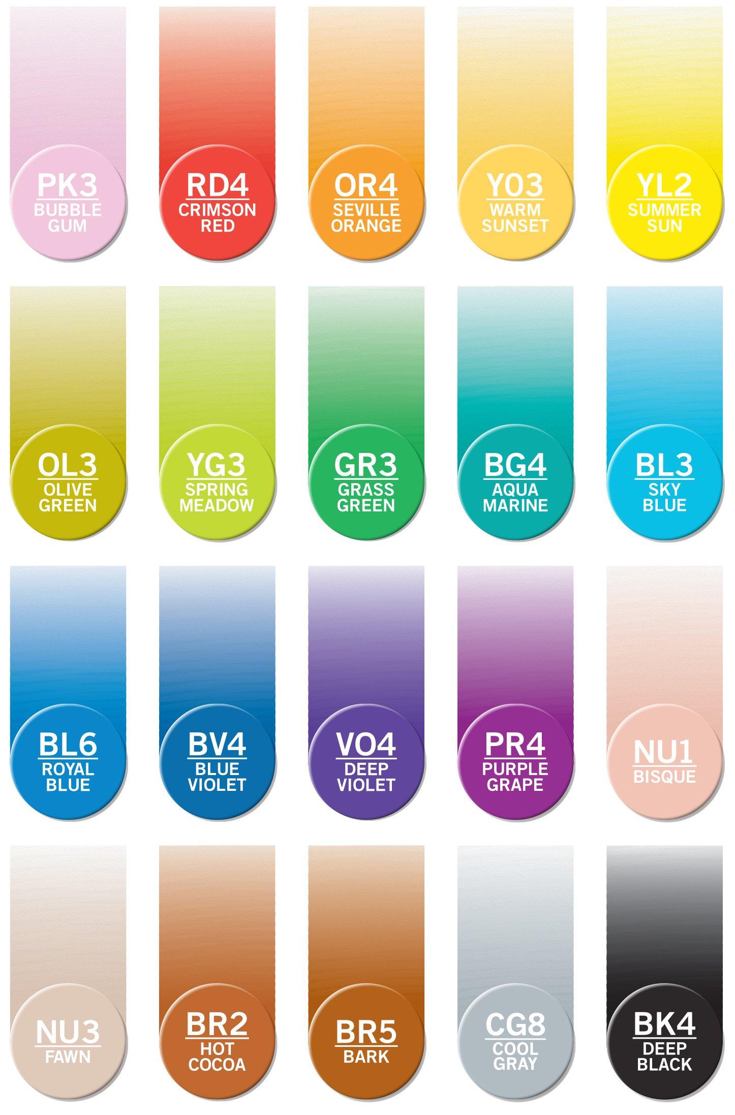 Chameleon Marker Ink Refill Kits Set of 21 Colors, Each 25 ml (Bundle 21 Items) by Chameleon