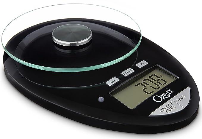 Ozeri Pro II báscula de cocina Digital, 1g a 12 lbs/5,5 kg capacidad, con cuenta regresiva del temporizador de cocina: Amazon.es: Hogar