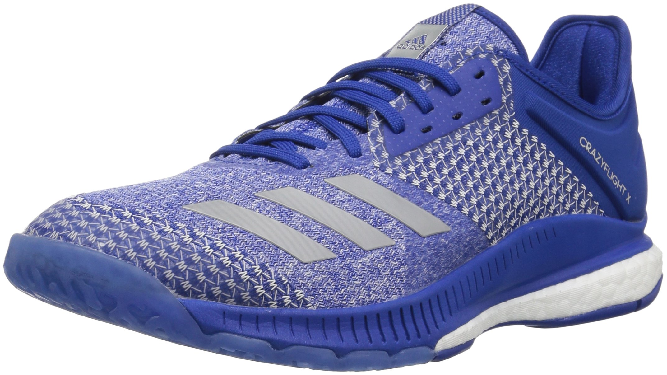 adidas Women's Crazyflight X 2 Volleyball Shoe, Collegiate Royal/Silver Metallic/White, 5 M US