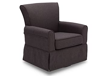 Charmant Delta Children Upholstered Glider Swivel Rocker Chair, Charcoal